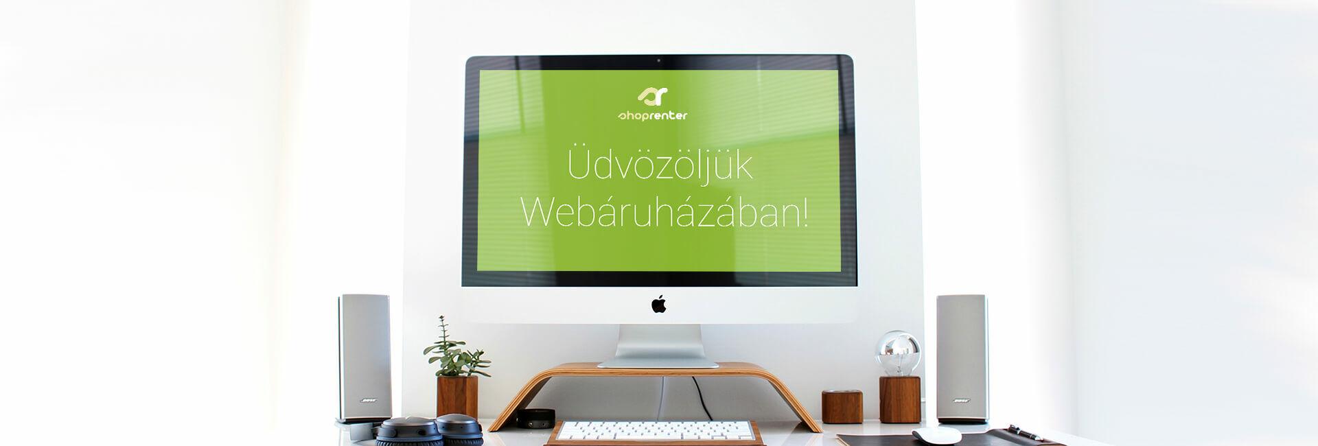 Üdvözljük webáruházában